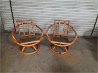 Pr. Of  Bamboo chairs