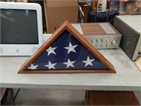 Case with an American flag
