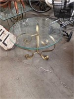 Round glass  Lamp table