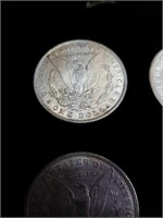 6 Morgan silver dollars 1883 1884 1885 1881 1880