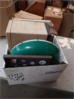 Box vintage  of   Lamp shades,  Slides