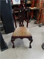 Leopard print   Side chair