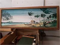 Oil painting On board- subject fishermen