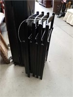 Bundle of 4 wooden folding chairs