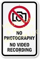 NO PHOTOS OR VIDEOS ALLOWED AT OUR LOCATION