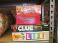 Life, Clue, Pictionary Jr, Express Yourself &