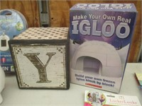 Piggy Banks, Baby Clothes, Wood Block, Igloo Snow