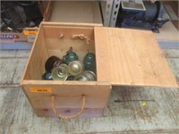 Wood Box With Various Insulators