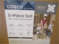 Cosco 5-Piece Vinyl Table & 4) Chairs