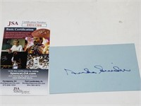 Duke Snider Signed Index Card W/ JSA COA