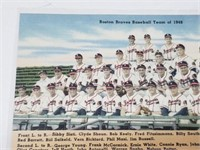 1948 Boston Braves Baseball Team Postcard
