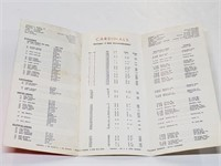1964 World Champs 1965 Cardinals Roster Program