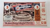 1967 World Series Cardinals Vs. Red Sox Ticket