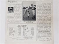 1940 New York Giants Jottings Newspaper