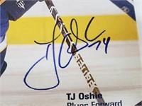 TJ Oshie Signed St Louis Blues Canvas SGA
