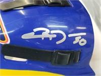 Chris Mason St Louis Blues Signed Mini Helmet