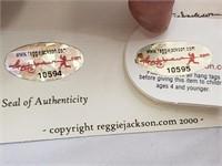 RARE Stan Musial Signed /500 Reggie Jackson Bear