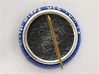 1983 Mickey Mantle Blue Pin Back Button