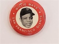 1983 Willie Mays Red Pin Back Button