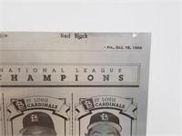 1985 St Louis Cardinals Post Dispatch Print Plate