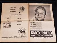 1963 St Louis Bowling News Stan Musial Newspaper