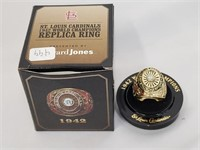 1942 St Louis Cardinals WS Champs Replica Ring
