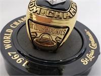 1967 STL Cardinals WS McCarver Replica Ring SGA