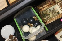 Container of Various Jewelry & Balls