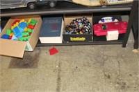 Lot of Toy Blocks,Surgery Book,Ties,etc