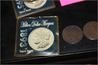 1856-76 French Coins and Replica Morgan Coins