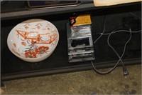 Decorative Bowl & Panasonic Cassette Player,etc