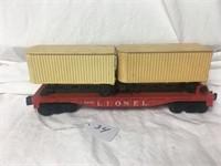 Lionel Train Flatbed car#6430 w/semi-trailers