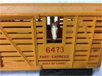 Lionel Train Horse transport car#6473 Plastic t