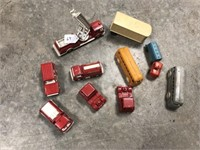 Misc. toy fire trucks and toy trucks