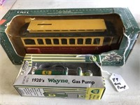 1920 BP Wayne Gas Pump / Trolley car bank