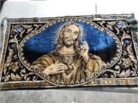 Sacred Heart Jesus Tapestry (38 x 20)