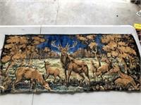 Bear Tapestry & a Deer Tapestry 38x20