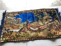 1 Pheasant Tapestry & 2 Deer Tapestries