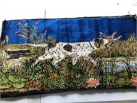2 Dog Tapestries (made in Italy) & 1 Bull Tapestry