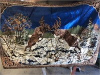 Fighting Moose Tapestry 72 x 47