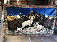 Ram Tapestry 72 x 47 (in good condition)