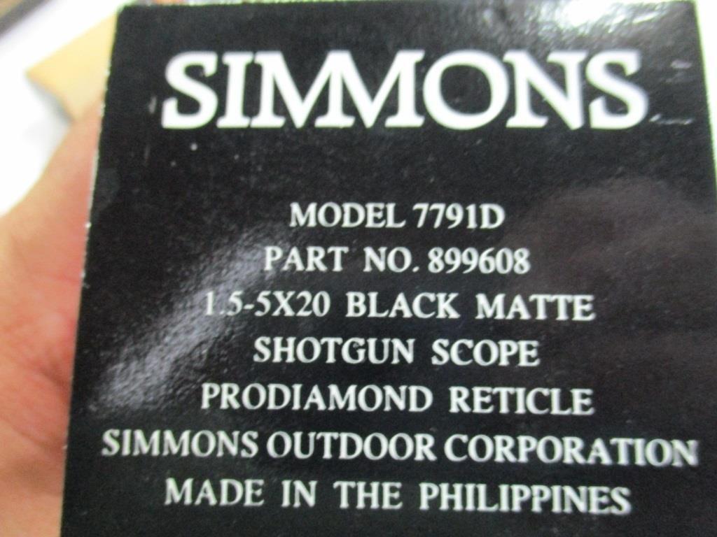 Lot 39 Simmons 1 5x20 Shotgun Scope