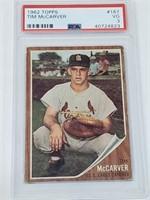 PSA 3 1962 Topps #167 Tim McCarver
