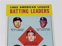 1963 Topps 1962 American League BL Mickey Mantle