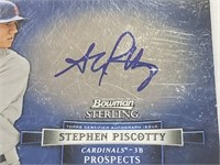 2012 Bowman Sterling Stephen Piscotty Signed
