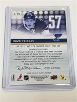2008-09 Upper Deck Signatures S-PD David Perron