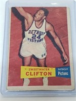 1957 Topps Basketball Sweetwater Clifton #1