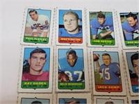 (36) Mini Vintage Football Player Cards