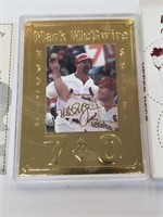 22K 62nd 70th Home Run Mark McGwire Baseball Card