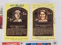 9 Signed Baseball Cards Enos Slaughter Al Barlick